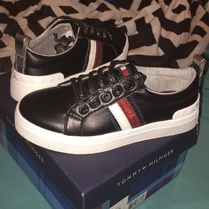 Little girl Tommy Hilfiger shoes